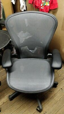 Herman Miller Aeron Remastered Mesh Desk Chair Medium Size B Fully Adj W Lumbar
