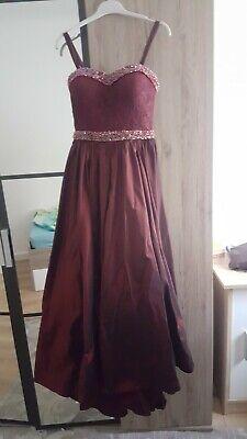 Dunkelrotes edles Kleid größe S für Bälle, Hochzeiten