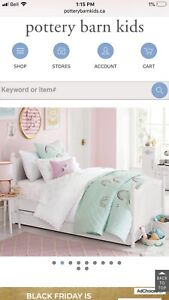 Pottery Barn Kids Catalina Double Bed and Sealy Organic Mattress
