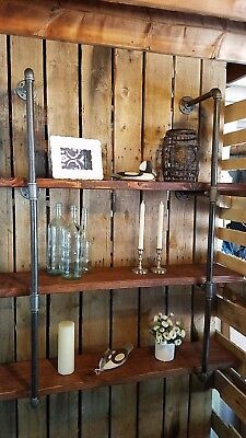 "3/4"" Black Iron Pipe Industrial Shelf / Shelving - Lumber not Included"