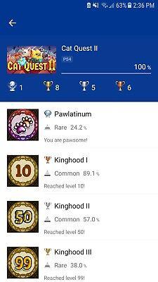 Cat Quest 2 Ps4 Platinum Trophy