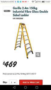Fibreglass Double Sided Step Ladder Aluminium Castle Hill The Hills District Preview