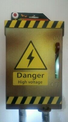 New danger Halloween High Voltage animated Power Box Prop Noise and Lights up