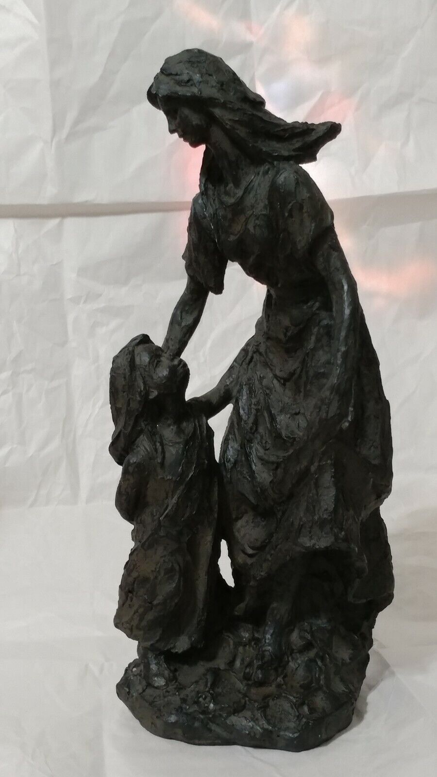 STATUE FIGURE OF WOMEN With Girl Child Kid 14 INCHES TALL  - $59.99