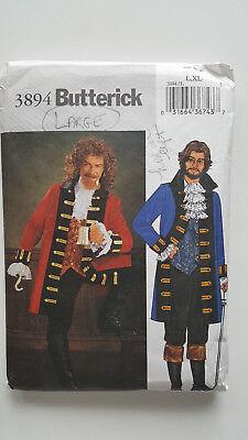 Butterick Costumes #3894 Adult Men's Halloween ~ Hamilton, Pirate, Capt. Cook](Halloween Costumes Hamilton)