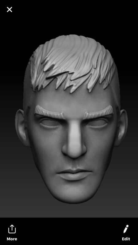Star wars Rebels kanan Jarrus custom head sculpt hasbro black series