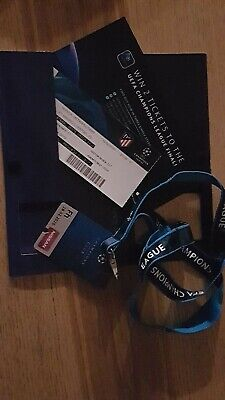 COLLECTORS TICKET ATLETICO MADRID - LIVERPOOL FC  CL 2020 COMPLETE VIP SET