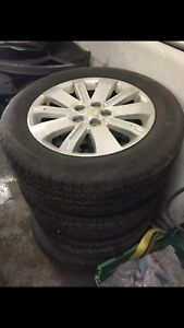 "Chevrolet Equinox 18"" wheels and tires 80% tread"