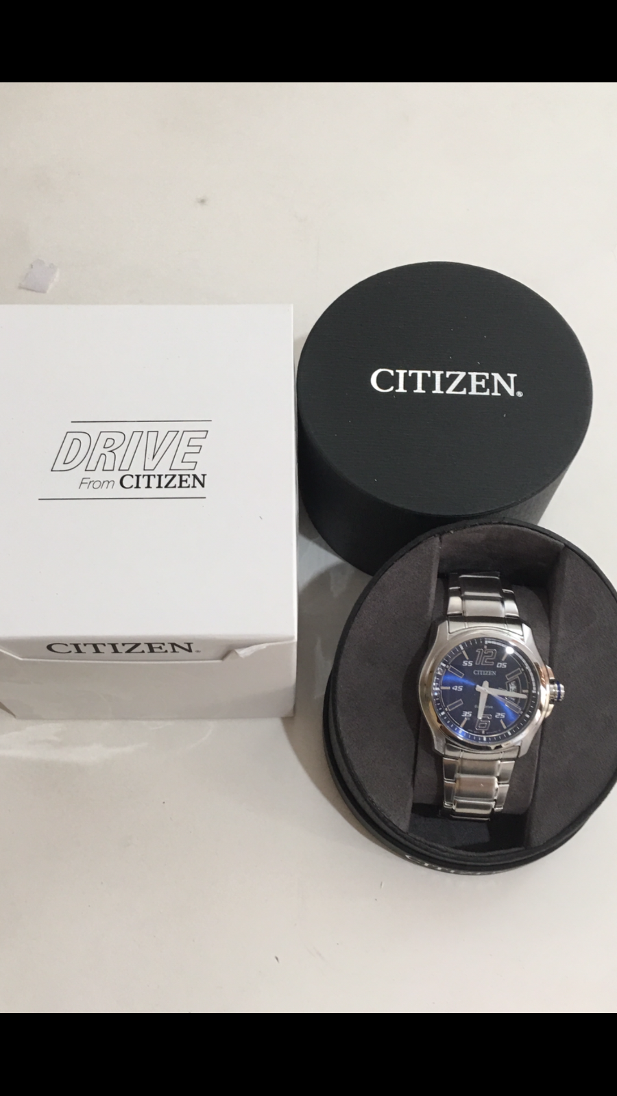 $99.00 - CITIZEN EOC DRIVE BLUE STAINLESS STEEL MEN'S WATCH Model- AW1350-83M