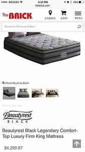 Double Sided Memory Foam KING Mattress With Box Spring