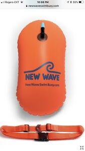New Wave Swim Buoy - swim triathlon training - orange