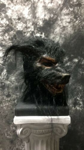 "NEW ""Wolf Man"" Pumpkin Pulp Moving Jaw Latex Face Mask"