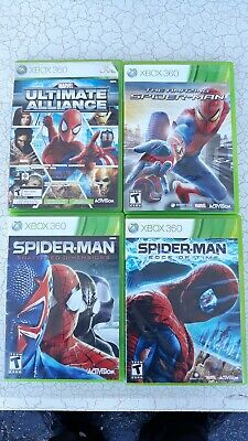 Spider-Man edge of time Shattered Dimensions Xbox 360 Lot Of 4 ultimate alliance