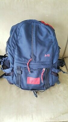 Vintage Abercrombie & Fitch A-10 Blue/Red Backpack. 90's GREAT Condition, Hiking