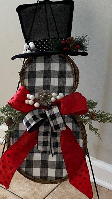 Snowman Door Wreath FREE SHIPPING