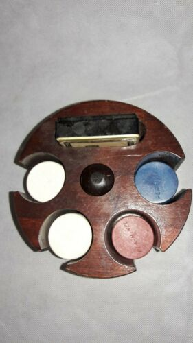 Poker Caddy w/ Pla-M-Wel Poker Chips, Sealed Brewster Playing Cards, Tax Stamp