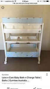 EUC love n care changing table n bath attached. Riverwood Canterbury Area Preview