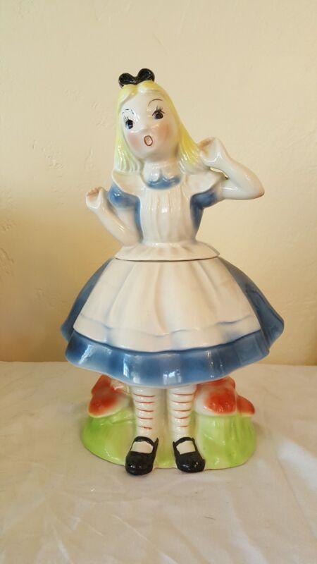Regal China Alice in Wonderland Walt Disney Cookie Jar