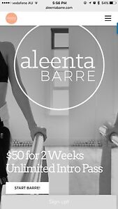 Aleenta Barre - 2 Wks Unlimited Intro Pass $25 (was$50) Mermaid Waters Gold Coast City Preview