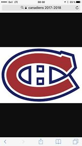 Billet hockey Canadiens de Montréal