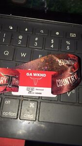 4 day wrist band for country thunder in craven July 12-15