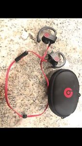 Power Beats By Dre Headphones in Red