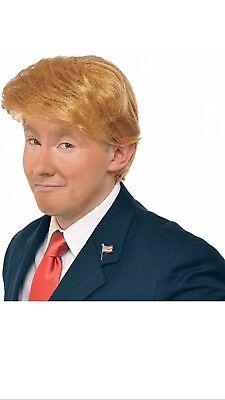 New Donald Trump Blonde Wig Mr. Billionaire Halloween Costume Wig
