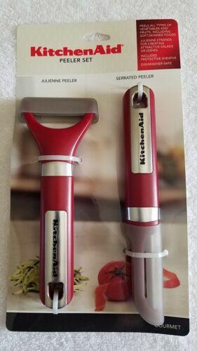Kitchenaid Red Julienne & Serrated Peeler Set
