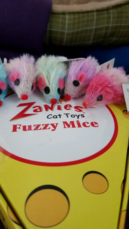 Zanies Fuzzy Rattle Mice Cat Toys. Lot of 4.