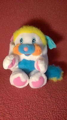 "Vintage 11"" PUFFBALL WHITE POPPLES POPPLE plush stuffed animal toy"