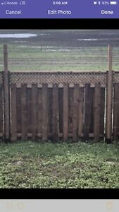 14 Fence panels, 16 posts & 16 adjustable ground spikes $1500