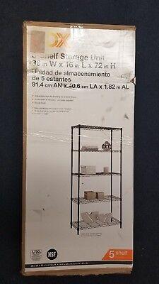 Hdx Metal Wire Wall Storage 5 Shelf Shelves Shelving Unit Organizer Home Garage