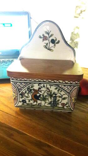 William sonoma nazari portugal/handpainted salt box/nm cond