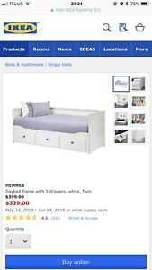 IKEA White Day Bed