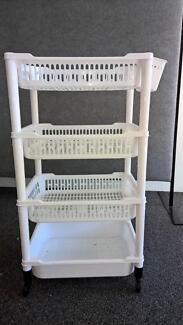 4 Tier Trolley on wheels - Plastic with non-slip lining Stafford Heights Brisbane North West Preview