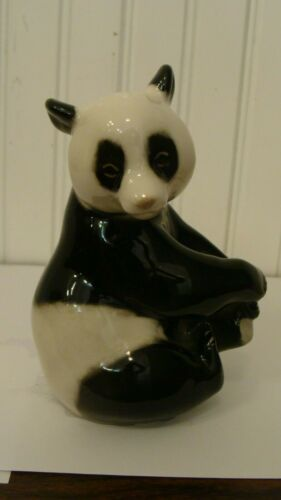 Vintage USSR Lomonosov Porcelain Russian Adorable Panda Bear Figurine