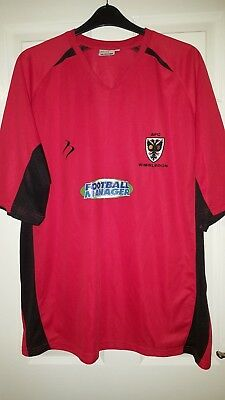 Mens Football Shirt - AFC Wimbledon FC - Away 2011-2012 - Tempest - Red - XXXL image
