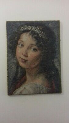 Lovely Vintage Tapestry Made In Cornwall the Young Girl