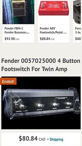 WANTED FENDER 4 button foot switch