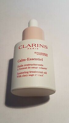 New CLARINS 30ml Calm-Essential Restoring Treatment Oil - £RRP44 - Tried once