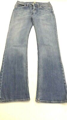 7 FOR ALL MANKIND WOMEN'S MEDIUM WASH BOOT CUT JEANS SIZE 28