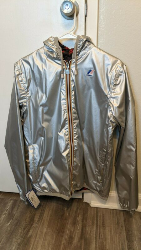 DAFT PUNK Silver K-way Reversible Jacket Maxfield Pop Up Store NEW