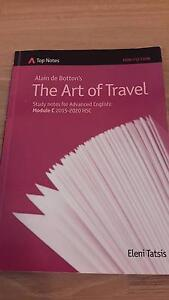 HSC  Advanced English Top Notes The Art of Travel Normanhurst Hornsby Area Preview