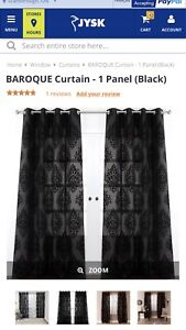 Black Curtains ( JYSK )