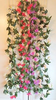 Joblot of 24 Silk Flower Garland Decorations new wholesale lot 16 ()