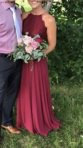 Red Bridesmaid Dress perfect for a Christmas Party $150OBO