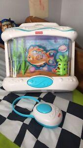 Aquarium musical avec télécommande