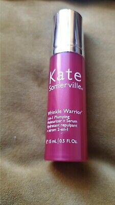Kate Somerville Wrinkle Warrior 2-in-1 Plumping Moisturizer + Serum 15ml New