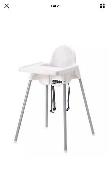 High Chair with Safety Belt with Highchair tray Inflatable Chair Pad Pre Owned