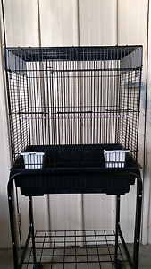 Bird cage on stand with 2  Baby Budgies Werribee Wyndham Area Preview